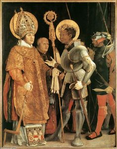 Matthias Grünewald - Meeting of St Erasm and St Maurice