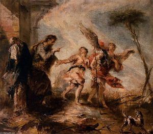 Gianantonio Guardi - The Departure of Tobias