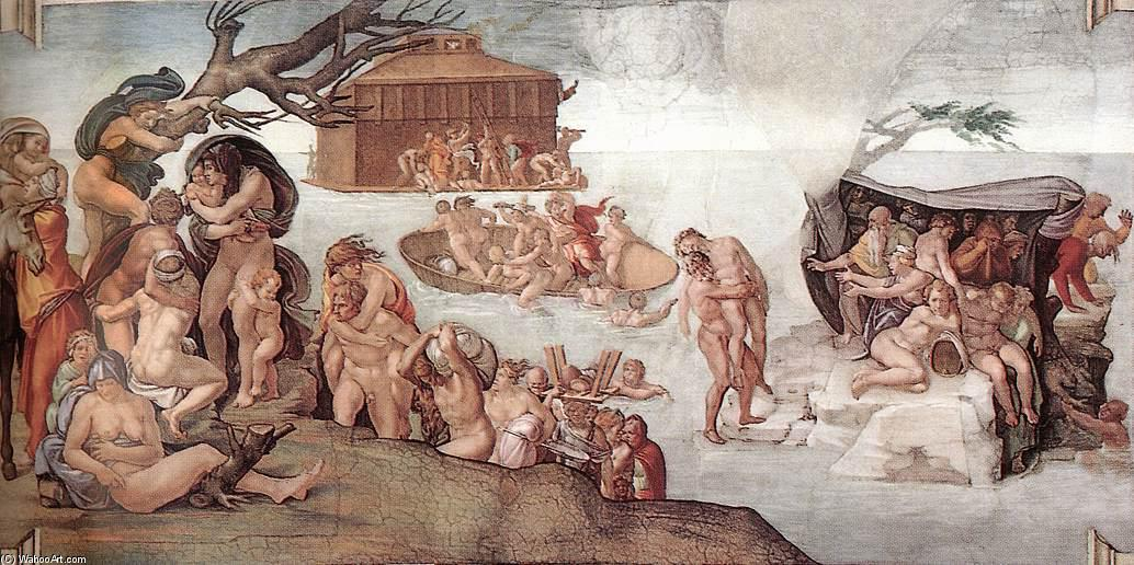 famous painting The Deluge of Michelangelo Buonarroti
