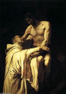 Francisco Ribalta - Christ Embracing St Bernard