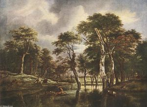 Jacob Isaakszoon Van Ruisdael (Ruysdael) - The Hunt