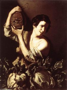Tommaso Salini - Boy with a Flask and Cabbages