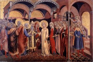 Sano Di Pietro - Marriage of the Virgin