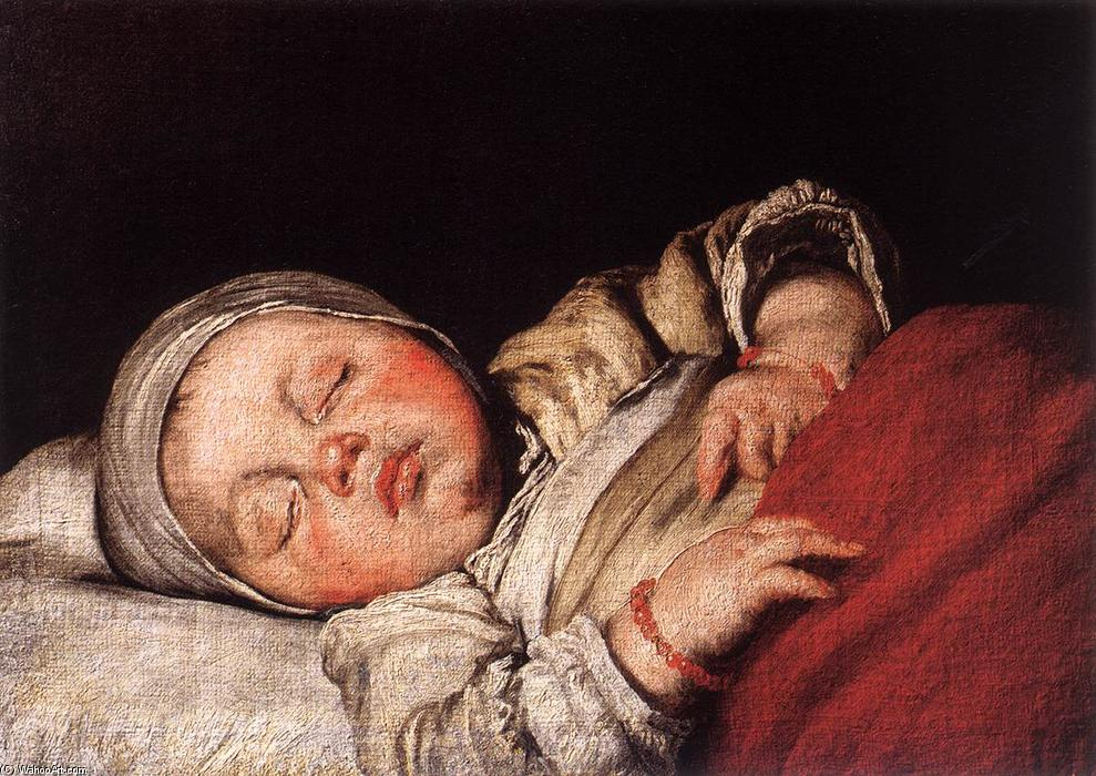 famous painting Sleeping Child of Bernardo Strozzi