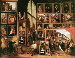 David The Younger Teniers - The Gallery of Archduke Leopold in Brussels