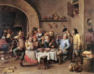 David The Younger Teniers - Twelfth-night (The King Drinks)