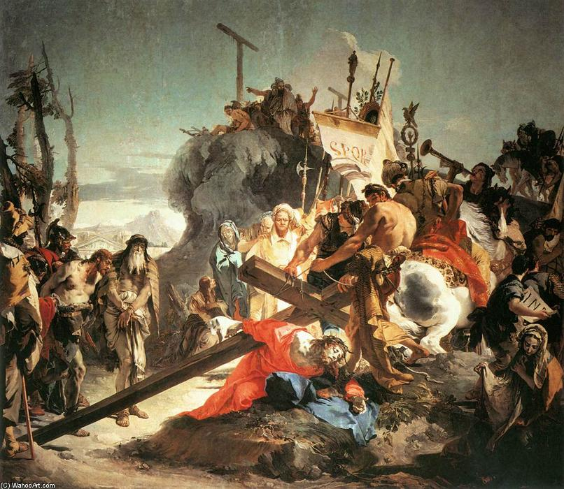 famous painting Christ Carrying the Cross of Giovanni Battista Tiepolo