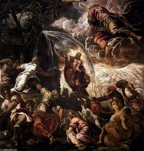 Tintoretto (Jacopo Comin) - Moses Drawing Water from the Rock