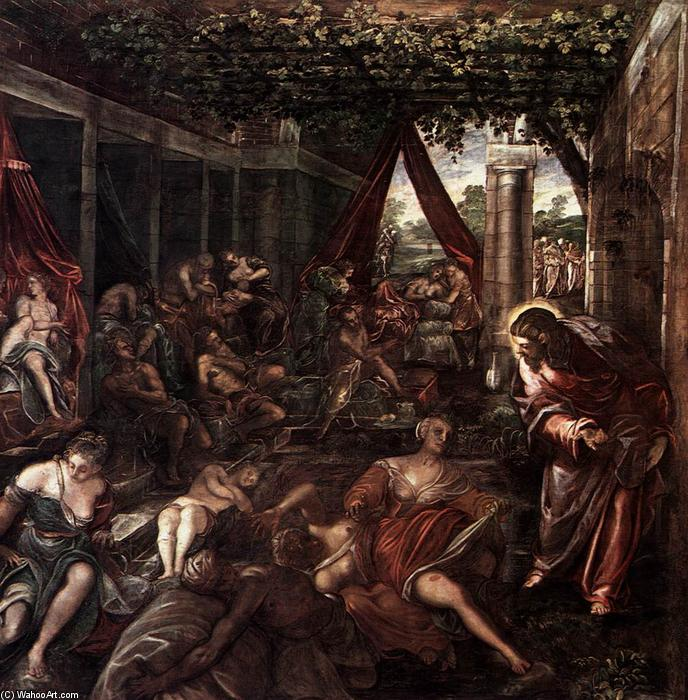 famous painting Probatica Piscina of Tintoretto (Jacopo Comin)