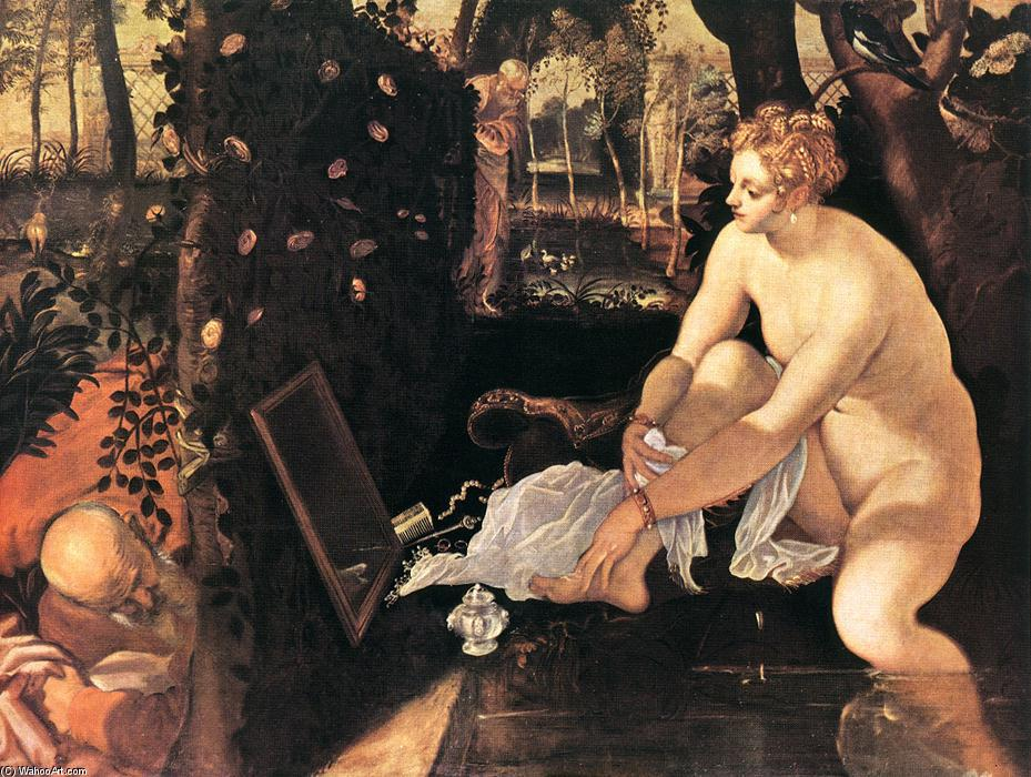 famous painting Susanna and the Elders of Tintoretto (Jacopo Comin)