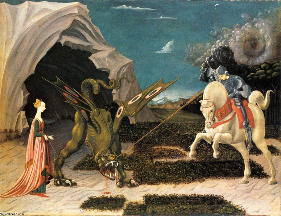 famous painting St. George and the Dragon of Paolo Uccello