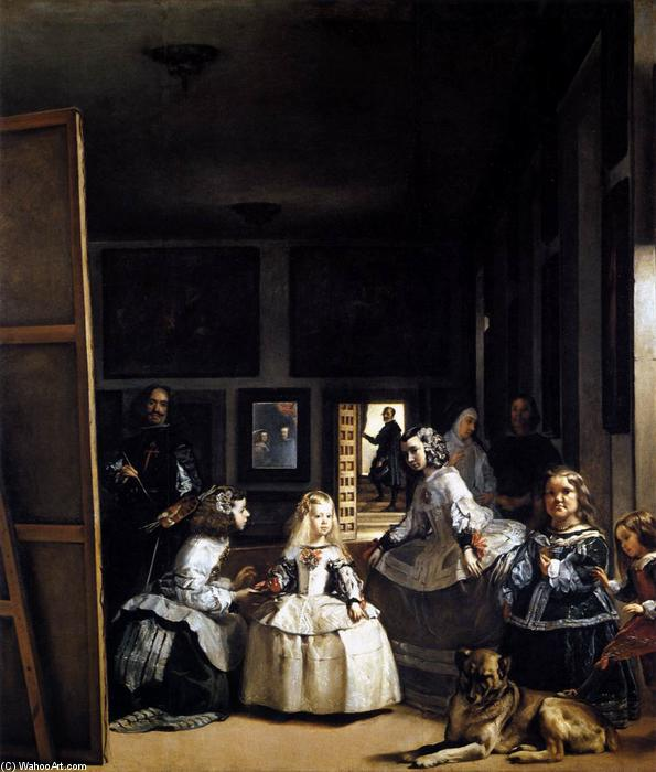 famous painting Las Meninas or The Family of Philip IV of Diego Velazquez