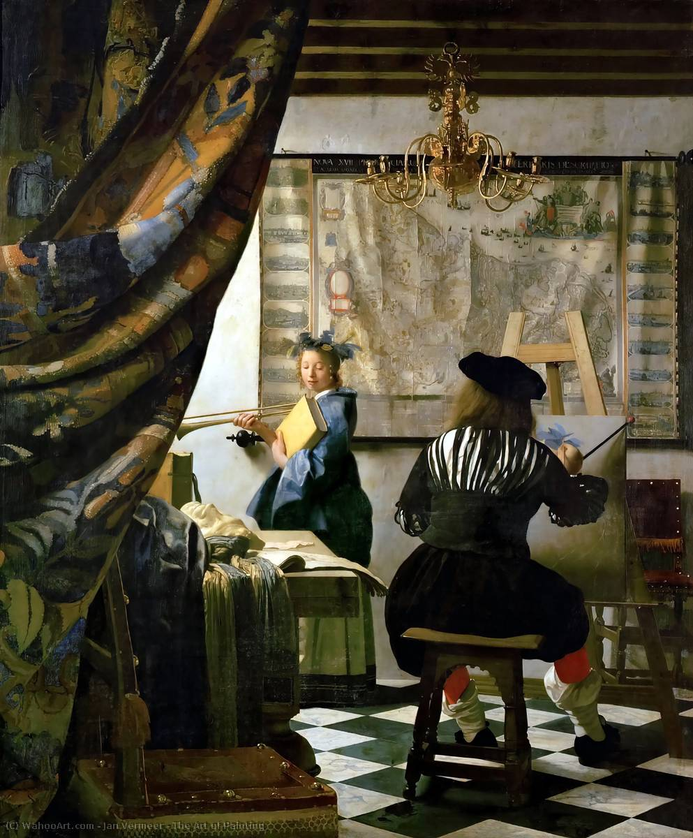 famous painting The Art of Painting of Jan Vermeer