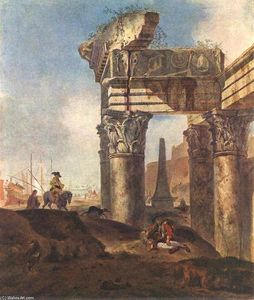 Jan Baptist Weenix - Ancient Ruins