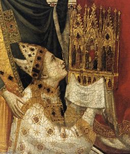 Giotto Di Bondone - The Stefaneschi Triptych: St Peter Enthroned (detail)