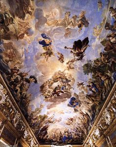 Luca Giordano - Ceiling decoration of the Gallery (detail)
