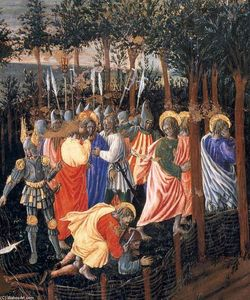 Giovanni Di Piermatteo Boccati - The Arrest of Christ (detail)