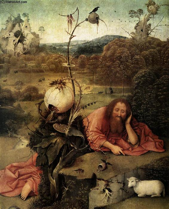 famous painting St John the Baptist in the Wilderness of Hieronymus Bosch