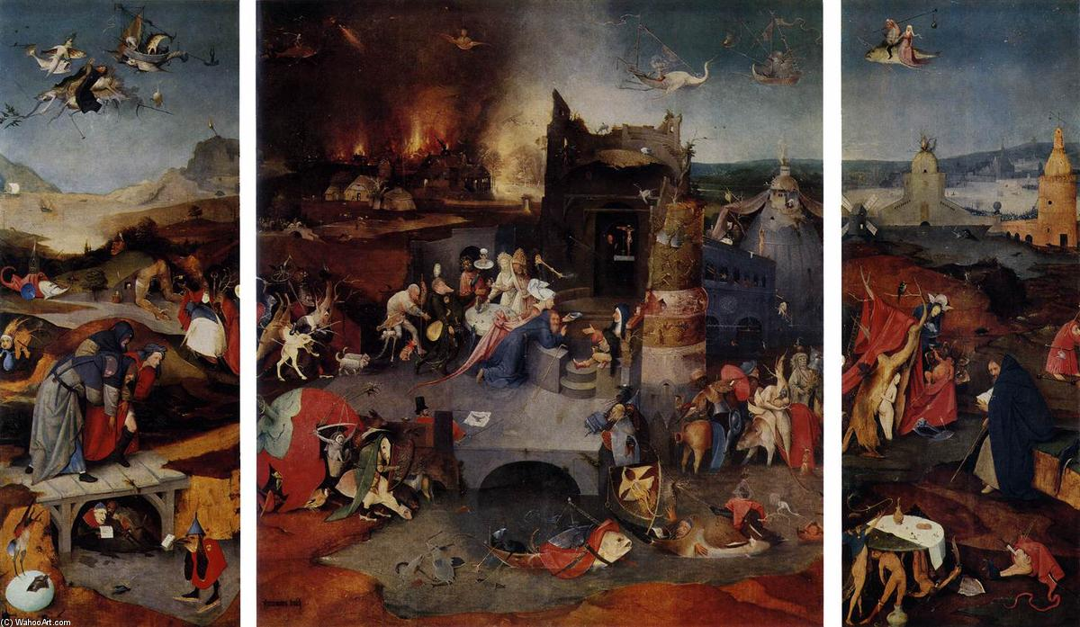 Order Museum Quality Copies | Triptych of Temptation of St Anthony by Hieronymus Bosch | AllPaintingsStore.com
