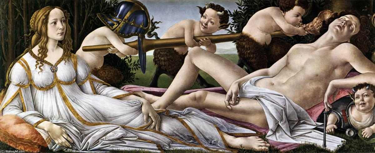 famous painting Venus and Mars of Sandro Botticelli