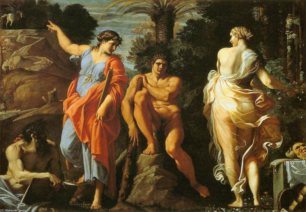 famous painting The Choice of Heracles of Annibale Carracci