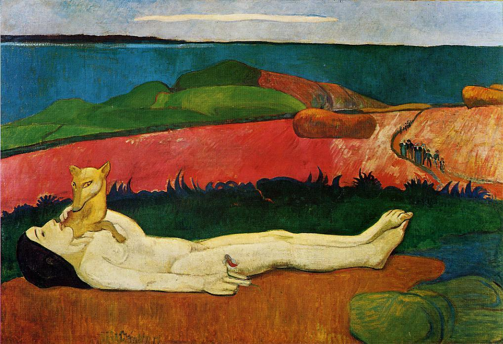 famous painting The Loss of Virginity (also known as The Awakening of Spring) of Paul Gauguin