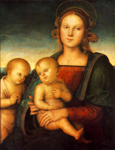 Vannucci Pietro (Le Perugin) - Madonna with Child and Little St. John