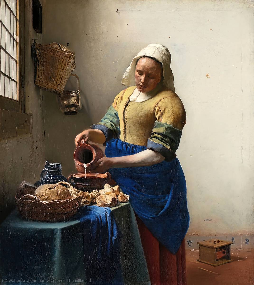 famous painting The Milkmaid of Jan Vermeer
