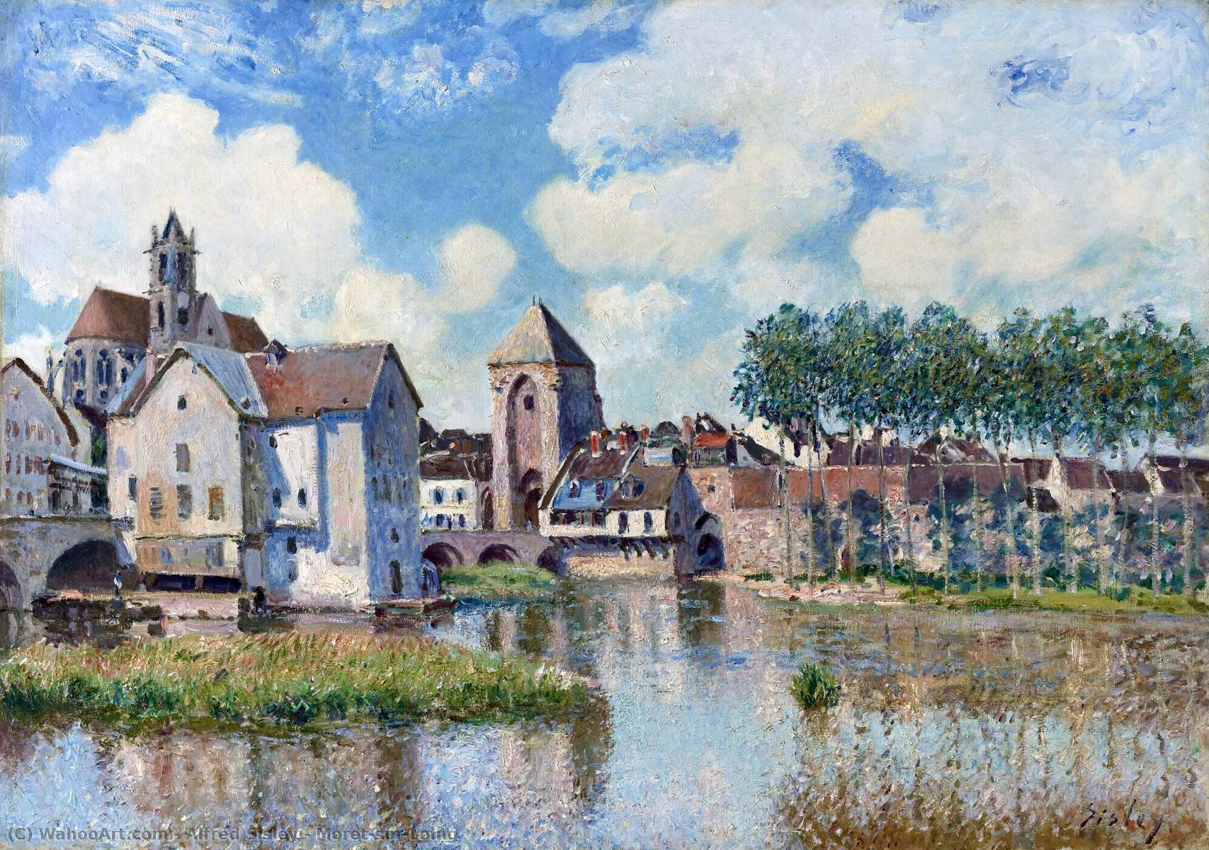 famous painting Moret-sur-Loing of Alfred Sisley
