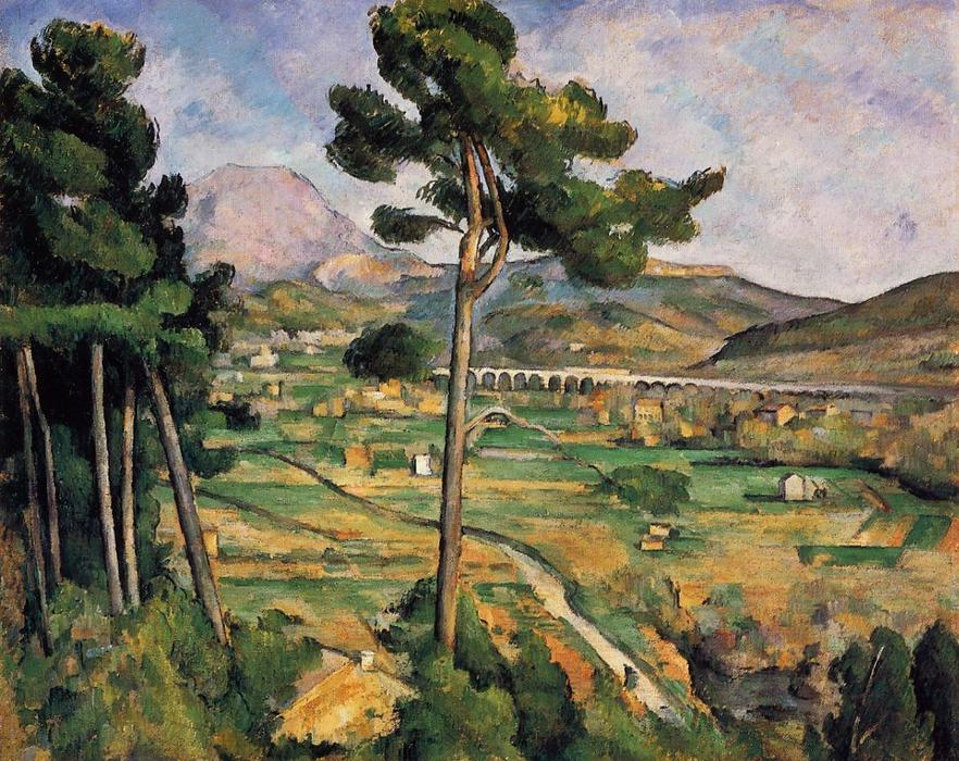 Order Museum Quality Copies | Mount Sainte-Victoire as seen from Bellevue by Paul Cezanne | AllPaintingsStore.com