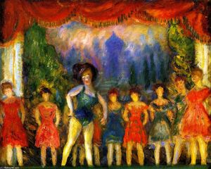 William James Glackens - Music Hall Turn (study)