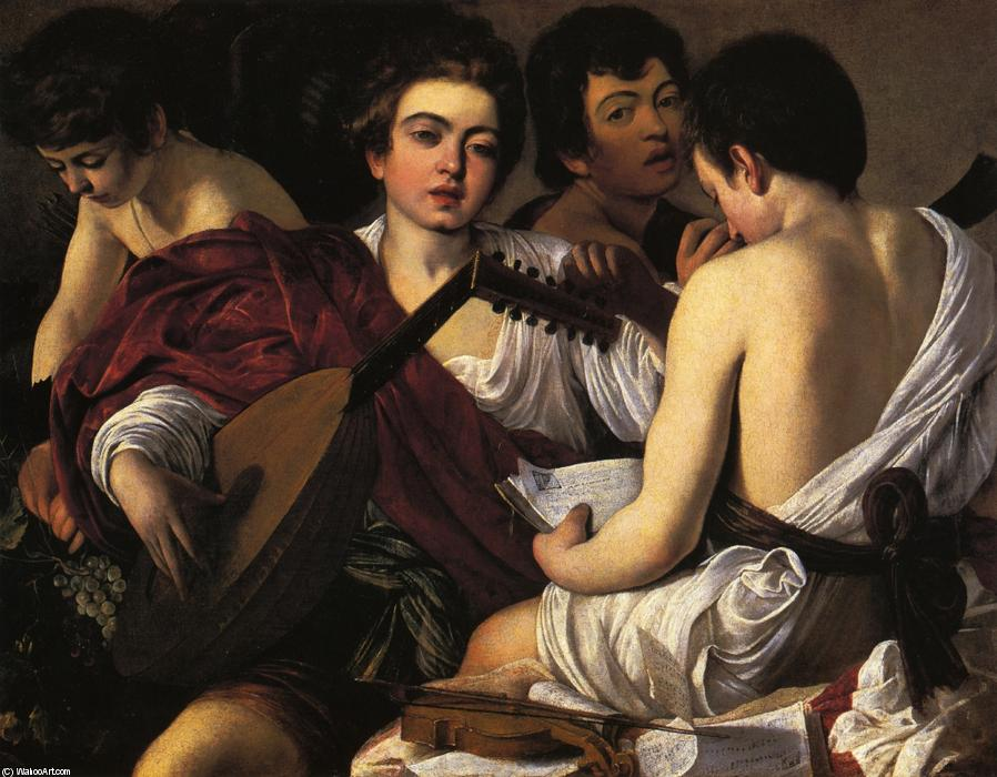famous painting The Musicians of Caravaggio (Michelangelo Merisi)