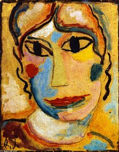 Alexej Georgewitsch Von Jawlensky - Mystical Head: Head of a Woman