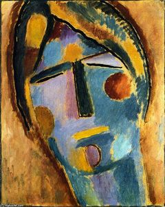 Alexej Georgewitsch Von Jawlensky - Mystical Head: Large Head of a Woman (also known as Marble Head)