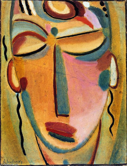 famous painting Mystical Head: Meditation of Alexej Georgewitsch Von Jawlensky