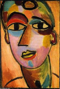 Alexej Georgewitsch Von Jawlensky - Mystical Head: Youth II