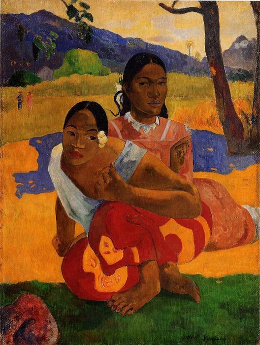 famous painting Nafeaffaa Ipolpo (also known as When Will You Marry.) of Paul Gauguin