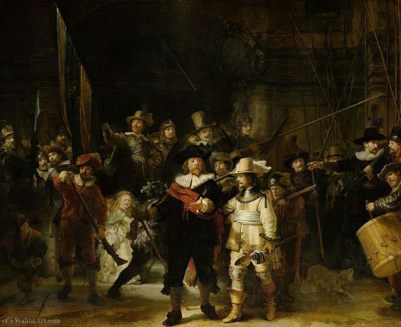 Order Reproductions | Night Watch by Rembrandt Van Rijn | AllPaintingsStore.com