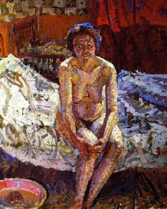 Harold John Wilde - Nude on a Bed
