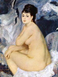 Pierre-Auguste Renoir - Nude Seated on a Sofa