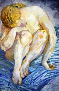 Franz Marc - Nude Study (also known as Female Nude)