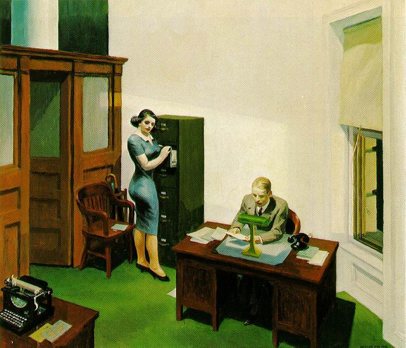 famous painting Office at Night of Edward Hopper