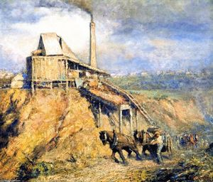 Frederick Mccubbin - The Old Stone Crusher (also known as The Quarry)