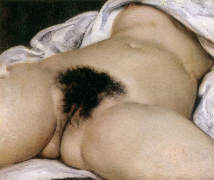 famous painting The origin of the world of Gustave Courbet