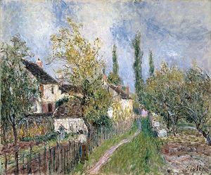 Alfred Sisley - A Path at Les Sablons