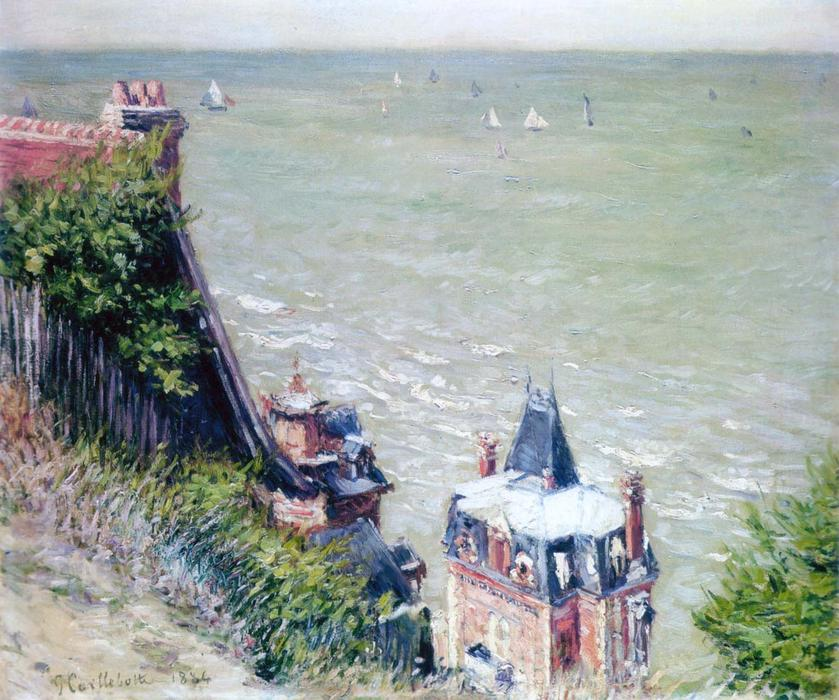 famous painting Pink Villas at Trouville of Gustave Caillebotte