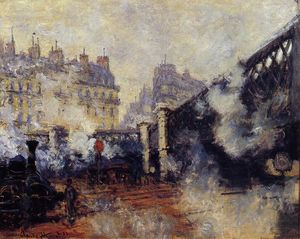 Claude Monet - The Pont de l'Europe, Saint-Lazare Station