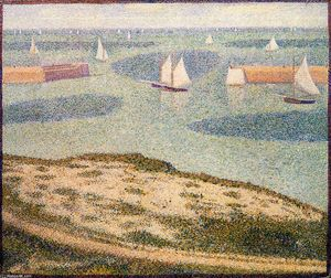 Georges Pierre Seurat - Port-en-Bessin, Entrance to the Outer Harbor