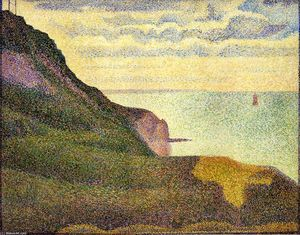 Georges Pierre Seurat - Port-en-Bessin, the Semaphore and Cliffs