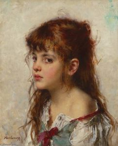 Alexei Alexeievich Harlamoff - Portrait of a young girl
